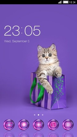 Cute Cat CLauncher Android Mobile Phone Theme Image 1