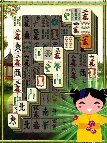 Mahjong Solitaire Sakura Android Mobile Phone Game Image 2