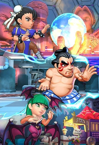 Puzzle Fighter Android Mobile Phone Game Image 2