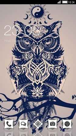Owl CLauncher Android Theme Image 1