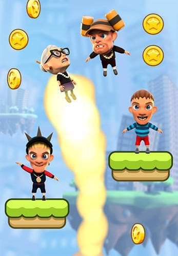 Angry Gran: Up Up And Away. Jump Android Mobile Phone Game Image 2