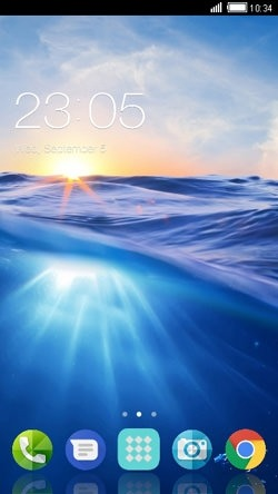 Sunrise CLauncher Android Mobile Phone Theme Image 1