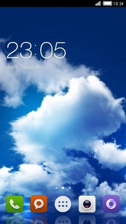 Clouds CLauncher Android Mobile Phone Theme Image 1