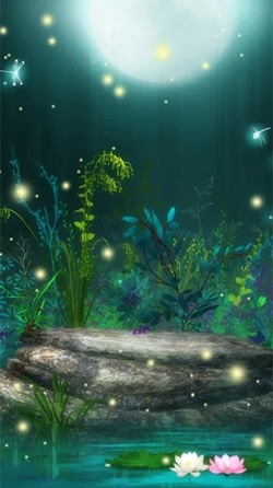 Fireflies Android Mobile Phone Wallpaper Image 2