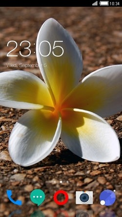 White Flower CLauncher Android Mobile Phone Theme Image 1