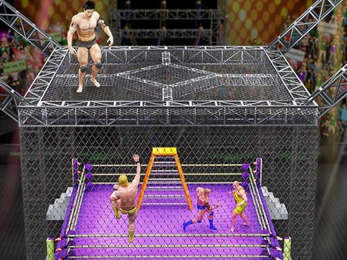 Cage Wrestling Revolution: Ladder Match Fighting Android Game Image 2