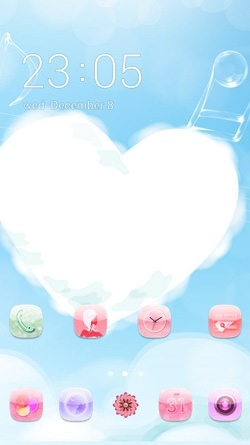 Heart CLauncher Android Theme Image 1