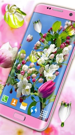 Blossoms 3D Android Wallpaper Image 1