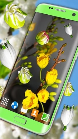 Blossoms 3D Android Wallpaper Image 2