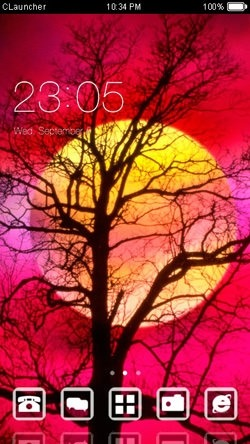 Sunset CLauncher Android Mobile Phone Theme Image 1