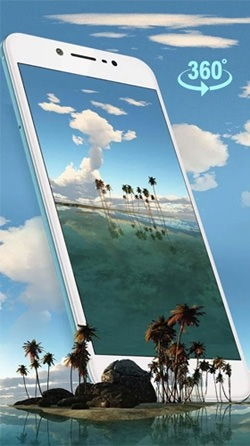 Tropical Island 3D Android Wallpaper Image 1