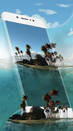 Tropical Island 3D Android Wallpaper Image 2