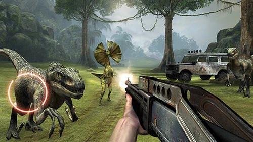 Dino VR Shooter: Dinosaur Hunter Jurassic Island Android Game Image 1