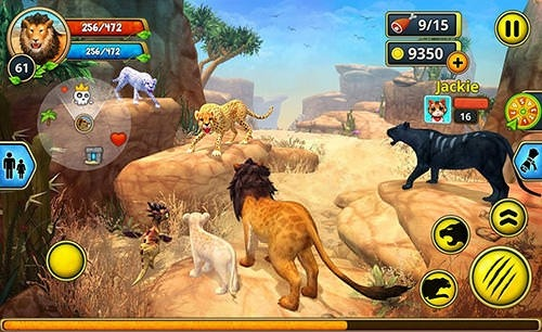Lion Family Sim Online Android Game Image 2