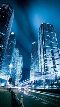 City At Night Android Wallpaper Image 1