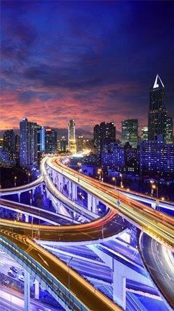City At Night Android Wallpaper Image 2