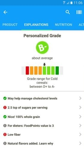 Fooducate: Healthy Weight Loss & Calorie Counter Android Application Image 2