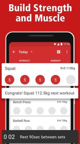 StrongLifts 5x5: Workout Gym Log & Personal Trainer Android Application Image 1