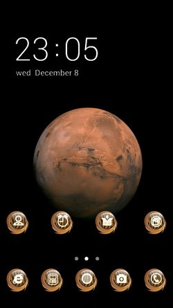 Mars CLauncher Android Mobile Phone Theme Image 1