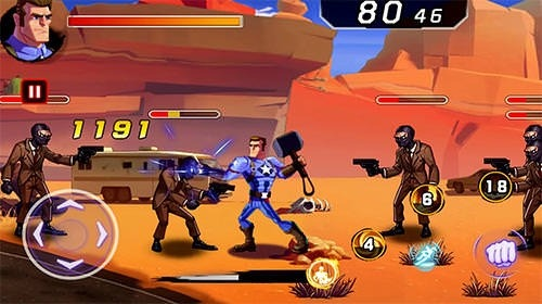 Battle Of Superheroes: Captain Avengers Android Game Image 2
