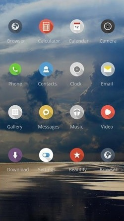 Clouds CLauncher Android Mobile Phone Theme Image 2