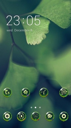 Green Leaf CLauncher Android Mobile Phone Theme Image 1