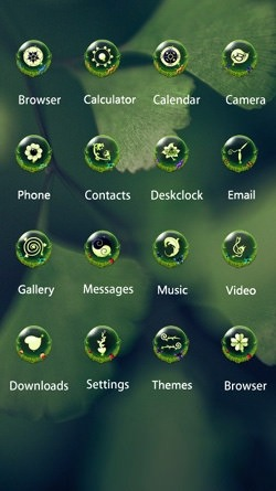 Green Leaf CLauncher Android Mobile Phone Theme Image 2
