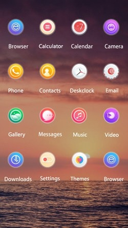 Sunset CLauncher Android Theme Image 2
