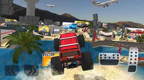 Monster Truck XT Airport Derby Android Mobile Phone Game Image 1