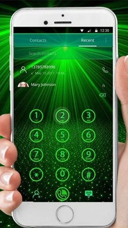 Laser Green Light Android Wallpaper Image 2