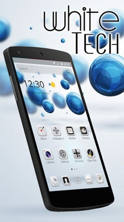 White Tech Android Wallpaper Image 1