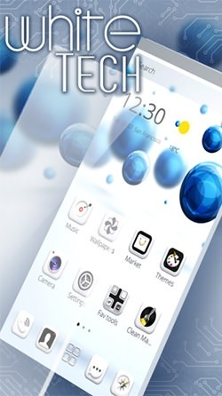 White Tech Android Wallpaper Image 2
