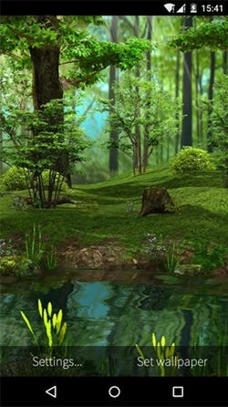Deer And Nature 3D Android Wallpaper Image 1