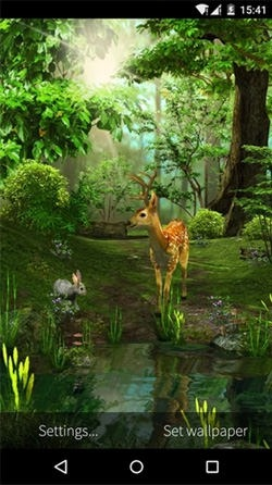 Deer And Nature 3D Android Wallpaper Image 2