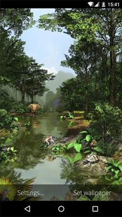 Rainforest 3D Android Wallpaper Image 1