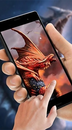 Cryptic Dragon Android Mobile Phone Wallpaper Image 1