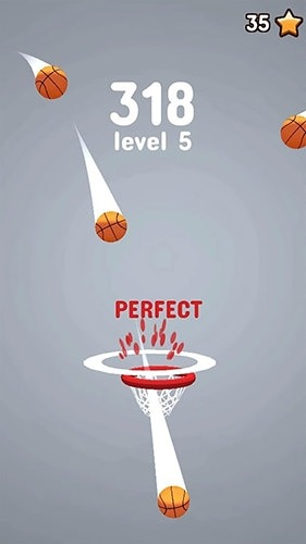 Reverse Basket Android Mobile Phone Game Image 1