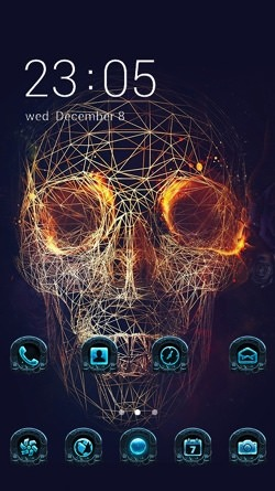 Skull Demon CLauncher Android Theme Image 1