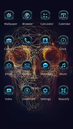Skull Demon CLauncher Android Theme Image 2