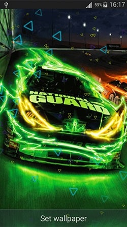 Neon Cars Android Wallpaper Image 1
