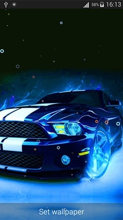Neon Cars Android Wallpaper Image 2