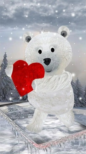 Teddy Bear: Love 3D Android Wallpaper Image 1