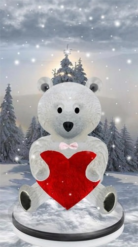 Teddy Bear: Love 3D Android Wallpaper Image 2