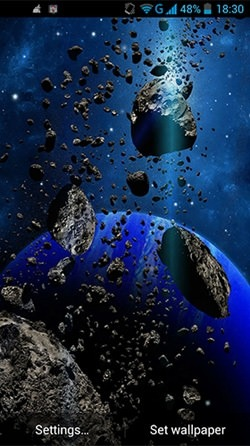 Asteroids Android Mobile Phone Wallpaper Image 1