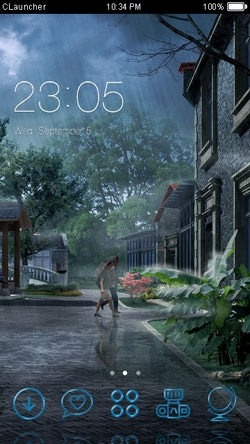 Rainy Day CLauncher Android Mobile Phone Theme Image 1