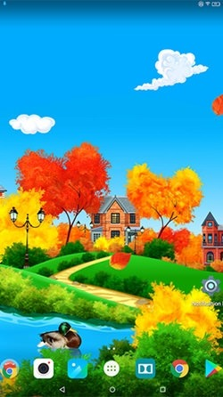 Autumn Sunny Day Android Wallpaper Image 1