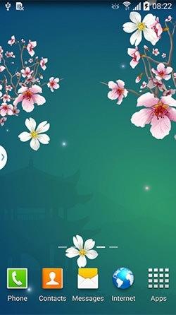 Abstract Sakura Android Wallpaper Image 1