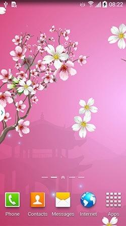 Abstract Sakura Android Wallpaper Image 2