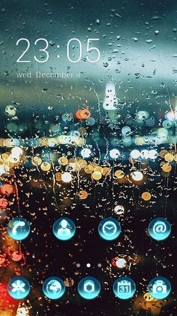 Raindrops CLauncher Android Mobile Phone Theme Image 1