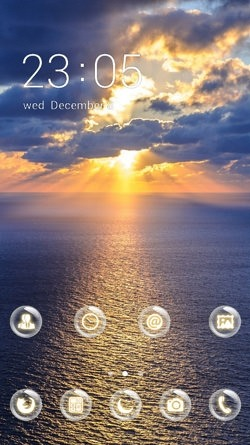 Sea Horizon CLauncher Android Mobile Phone Theme Image 1